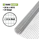 YARDGARD 308247B 24-Inch x 50-Foot 1/4-Inch Galvanized Mesh Hardware Cloth