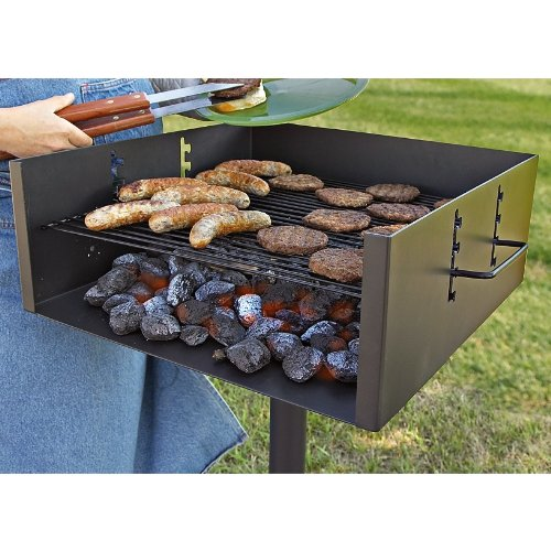 (Guide Gear Heavy-Duty Park Style Charcoal Grill, Extra Large)
