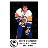 Curtis Chamberlin Hockey Card 1983-84 Saskatoon Blades #17 Curtis Chamberlin