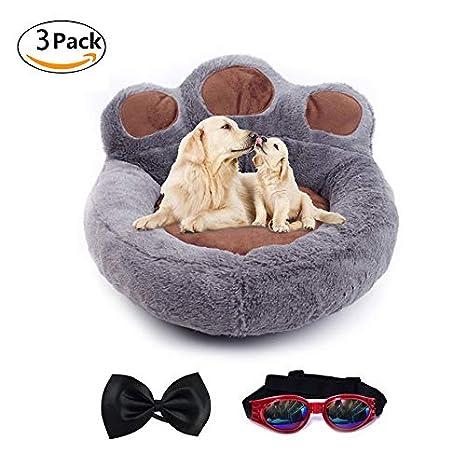 LA VIE Cama Sofá Redondo para Mascotas Forma de Garra Cesta Linda de Perros con Cojín
