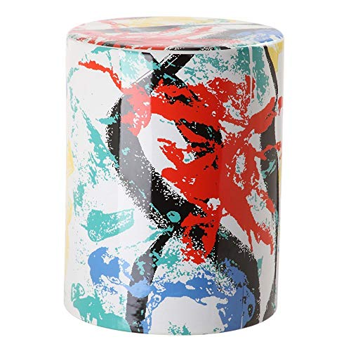 Safavieh Castle Gardens Collection Glazed Ceramic Multicolored Kes Garden Stool