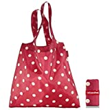 Reisenthel Minimaxi Ruby Dots - Folding Reusable Shopping Bag - Bag For Life by Reisenthel