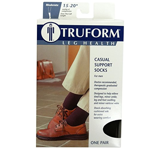 Truform-1933NV-S-Mens-15-20-mmHg-Casual-and-Athletic-Knee-High-Socks-Size-Small-Color-Navy
