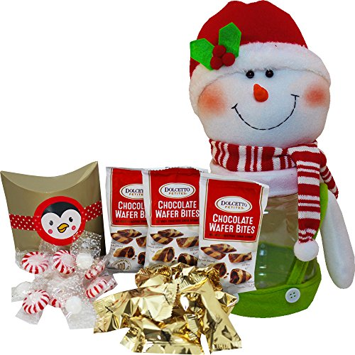 Jolly Snowman Chocolate and Candy Cookie Jar