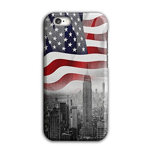 New York City Flag Case for iPhone, 6 / 6S NY Non-Slip Cover - Slim Fit, Comfortable Grip, Protective Case by Wellcoda ()