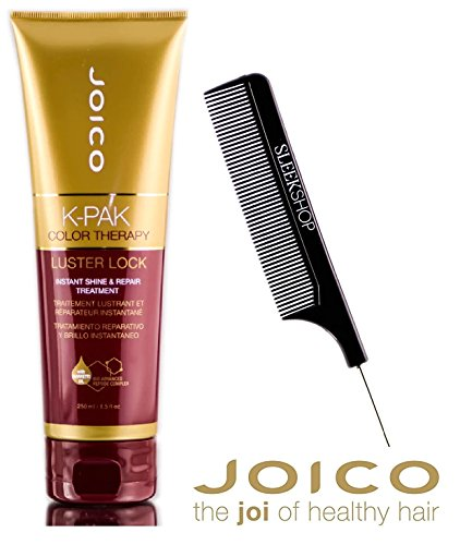 Joico K-Pak Color Therapy LUSTER LOCK - Instant Shine & Repair Treatment (with Sleek Steel Pin Tail Comb) (8.5 oz / 250 ml - NEW SIZE)