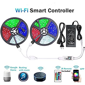 Wifi Led Strip 10m 5m Waterproof Rgb Diode Tape Strips Light Compatible With Alexa Smartphone Mi Light Wifi Controller Lights & Lighting Adapter Harmonious Colors Led Lighting