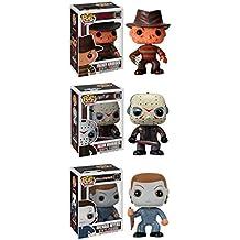Muñeco Funko Horror Clásicos POP! Set de colección de muñecos de películas de terror: Freddy Krueger, Jason Voorhees, Michael Myers