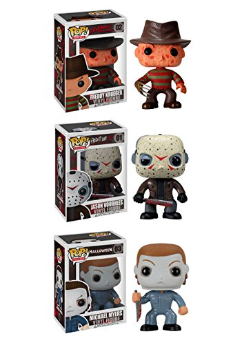 (Funko Horror Classics POP! Movies Collectors Set: Freddy Krueger, Jason Voorhees, Michael Myers Action)