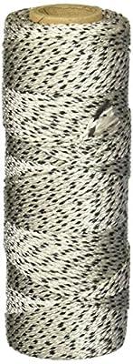 Keson BWB500 #18 Braided Nylon Mason Twine, Black/White, 500' L