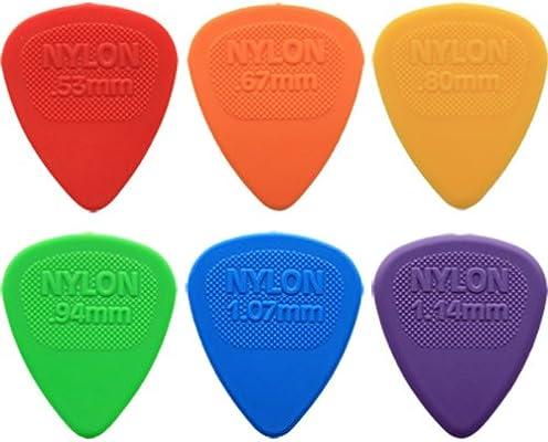 24 x Dunlop Nylon selecciones de la guitarra de Midi/de púas de ...