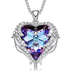 Pendant With Embellished Dark Purple Crystals from Swarovski