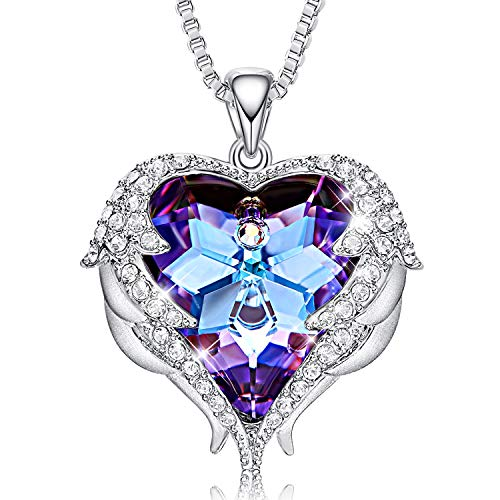 CDE Necklaces for Women Embellished with crystals from Swarovski Pendant Necklace Heart Of Ocean Jewelry Gift for Mothers Day