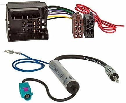 phantomeinspeisung DIN ISO Radio Adaptador Cable para audi skoda seat VW Quadlock