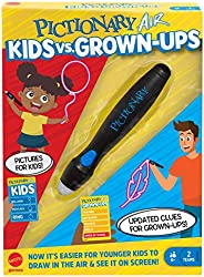 Mattel Games Pictionary Air Kids vs Grown-Ups Family Drawing Game, Links to Smart Devices, Gift for Kid, Famil