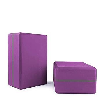 JESSIEKERVIN YY3 Ladrillo de Yoga púrpura Puro compresión ...