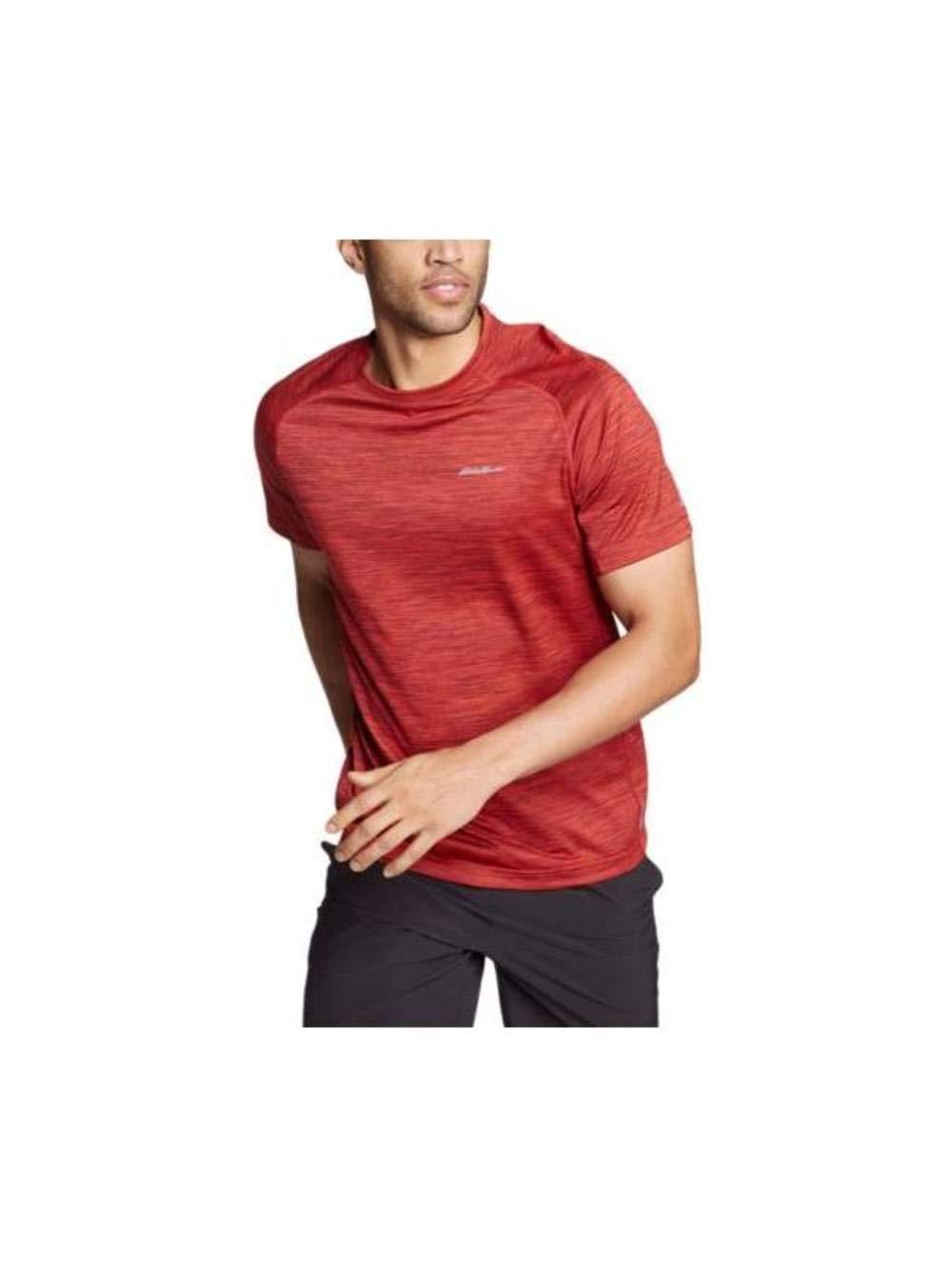 Eddie Bauer Men's Resolution Short-Sleeve T-Shirt, Mineral Red Regular S
