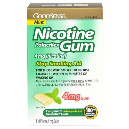 GoodSense Nicotine Polacrilex Gum, Mint, 110 Count, 4mg by Good Sense