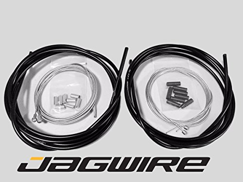 (JAGWIRE ROAD SHOP KIT - Complete Brake & Shifter Cable and Housing Kit- Black - SRAM/Shimano)