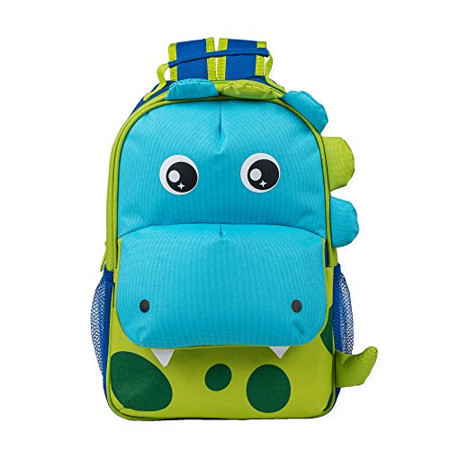Green Spotted Dinosaur Dimensional Animal Shape Water Resistant Preschool Backpack