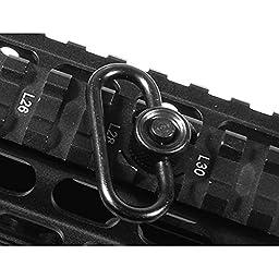 UTG Standard Duty Push Button QD Sling Swivel, 1.25\