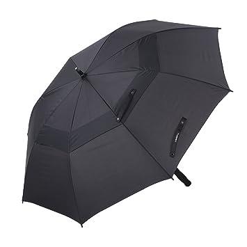 TOMSHOO Paraguas Plegable 50 Pulgadas Automático en el Apertura y Cierre con Toldos Dobles Anti-