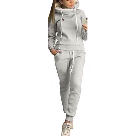 Damen Langarm Sportanzug Trainingsanzug Jogginganzug  Casual Hausanzug Fitness