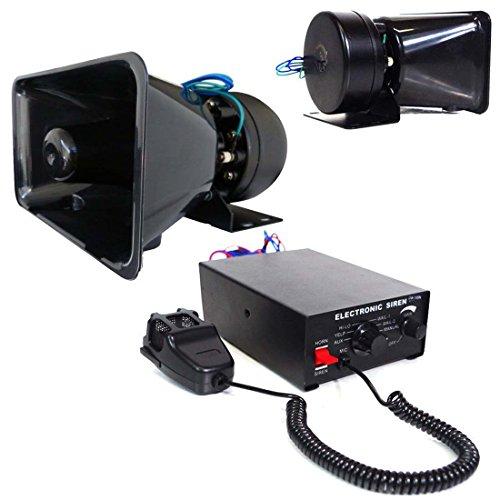 LEAGUE&CO 100w Loud 12v Car Horn Siren Kit Pa System 7 To...
