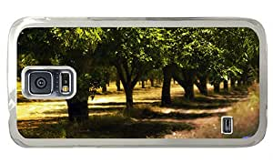 Hipster Samsung S5 thin cases trees garden summer PC Transparent for Samsung S5