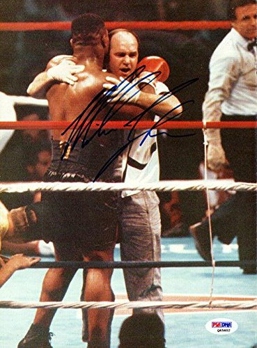 Mike Tyson Autographed Signed Magazine Page Photo Vintage Q65602 PSA/DNA Certified Autographed Boxing Magazines