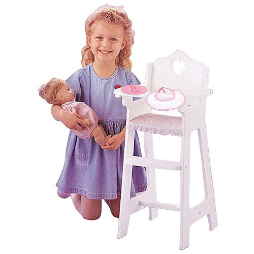 Badger Basket Doll High Chair With Feeding Access
