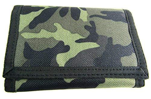Cartera y monedero para tarjeta de crédito para hombres y niños con estampa de camuflaje del ejército.