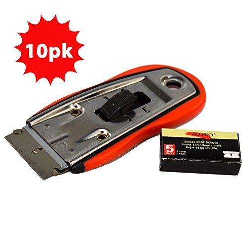 Allpro Deluxe Razor Blade Safety Scraper w/5Blades (10pk)