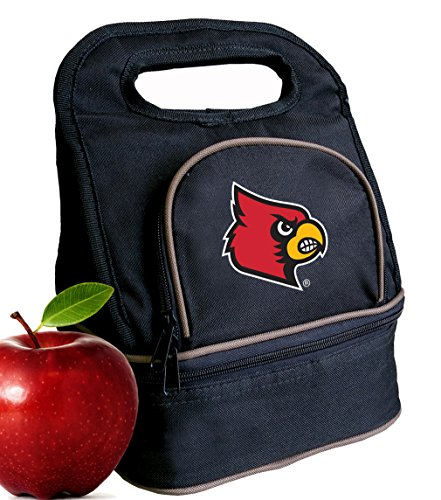 Broad Bay University of Louisville Lunch Bag Louisville Cardinals Lunch Box - 2 Sections! (Louisville Cardinals Lunch)