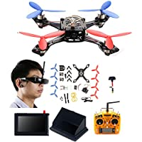 AICase Cheerson TINY 117 Mini Real-time FPV DIY HD Video Camera Racing Quadcopter Drone Kit with [ VR Glasses ][ LCD Monitor][ Kickstand ][ Antenna ][ Remote Controller ]