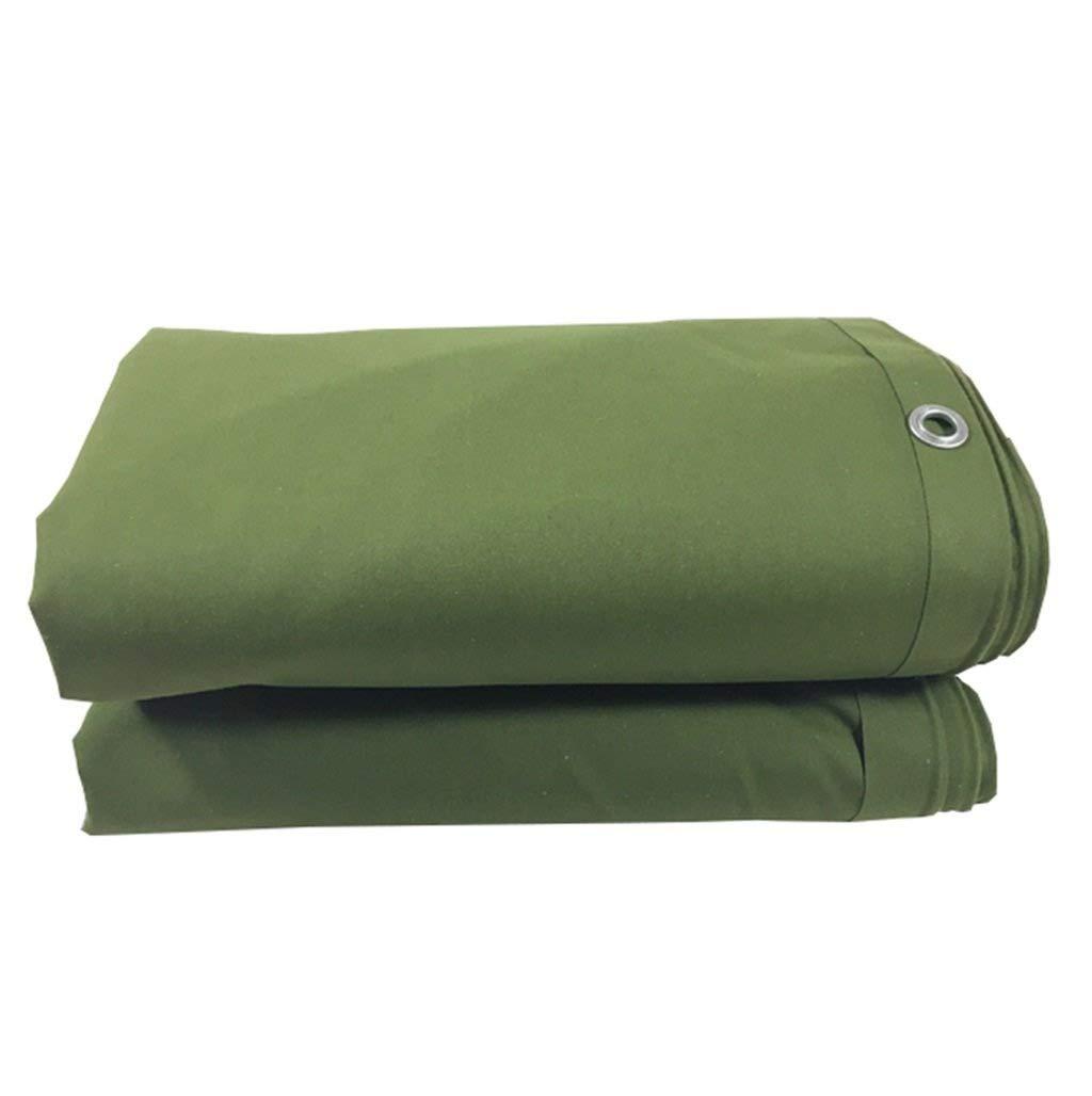 Gxmyb Tarp verde 100% Impermeabile e UV protetto Resistente Telo Multifunzione Telo per Auto Tetto Copertura per Tenda da Campeggio Tenda da Campeggio, Spessore 0,65 mm (Dimensioni   4x4m)