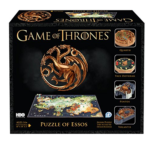 4D Cityscape Game of Thrones (GoT) 3D Time Puzzle of Essos (1400-Piece) ()
