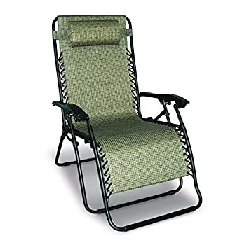 Caravan Sports 80009500160 Infinity Gravity, Beige Oversize Chair, Pattern