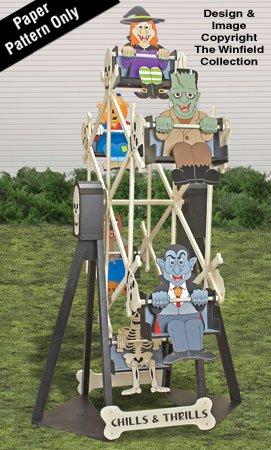 Halloween Ferris Wheel and Riders Plan Set -