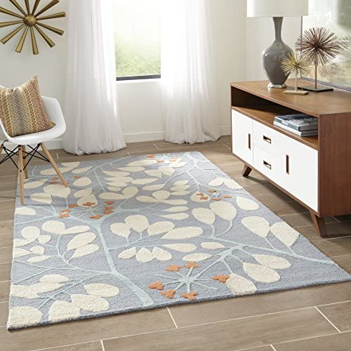 Momeni Rugs Dunes Collection, Hand Tufted 100 Wool Transitional Area Rug, 2 x 3 , Blue