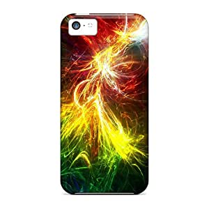 Browncases Fashionable DTbo-88-vE Rainbow Abstract Case Cover Skin For Iphone 5c