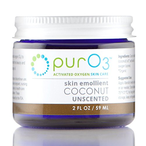 2 Oz Coconut Oil Moisturizer - PurO3 Ozonated Coconut Oil - 2 oz