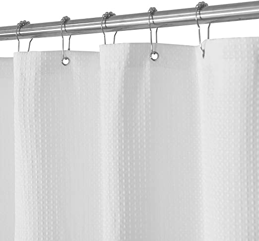 Harbormill 71 x 71 in Stripes Fabric Shower Curtain Light Yellow