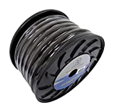 Bullz Audio (2) BPE0.50BK 1/0 Gauge 50' Twisted Pro Power Ground Wire Cable Black