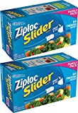 quart freezer bags slider - Ziploc Slider Stand & Fill Freezer Bags, Quart, 128 Count