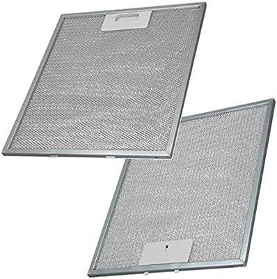 Spares2go - Filtro de grasa de aluminio para ventilador de campana extractora Whirlpool (305 x 265 mm, 2 unidades) Fitment List B: Amazon.es: Grandes electrodomésticos