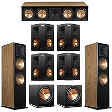 Klipsch 7.2 Cherry System with 2 RF-7 III Floorstanding Speakers, 1 RC-64 III Center Speaker, 4 Klipsch RP-250S Surround Speakers, 2 Klipsch R-112SW Subwoofers
