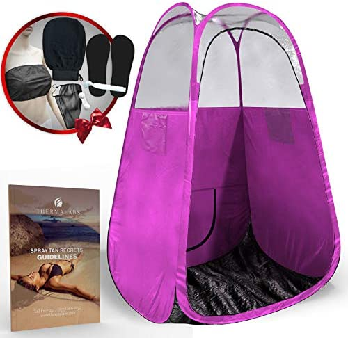 Spray Tan Tent Pink The Best, Bigger Than Others, Folds Easily in 30 Seconds and Has NO Logo On Tent Itself Professional Sunless Tanning Pop-Up Spraying Booth for Airbrush Art, Makeup Painting