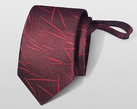 Corbata negocios masculinos perezosos cremallera coreano hombres ...