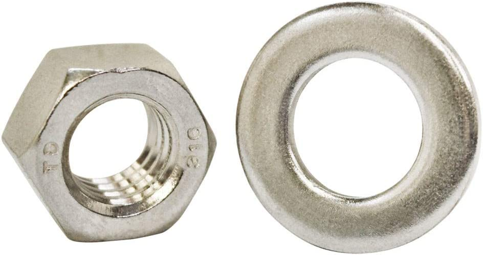 MH GLOBAL WLL 1,050 Pounds 3//8 Inch x 12 Inch Fully Threaded Marine Stainless Steel Turned Eye Bolt Nut Washer